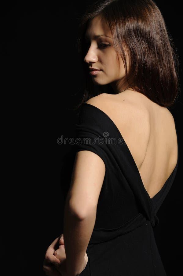 czarny smokingowa dziewczyna zdjęcie royalty free