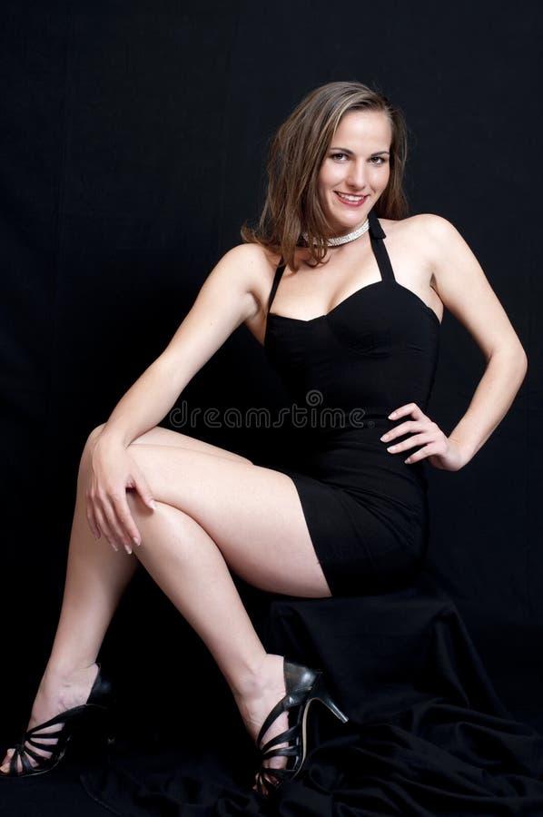 czarny smokingowy seksowny obraz royalty free
