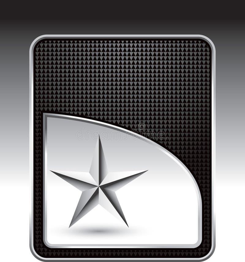czarny srebra gwiazdy szablon ilustracja wektor