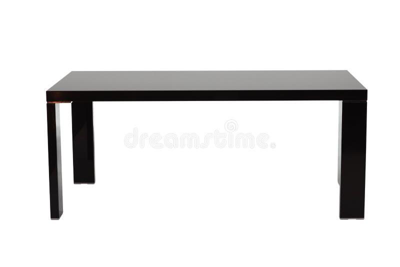 czarny stół fotografia stock