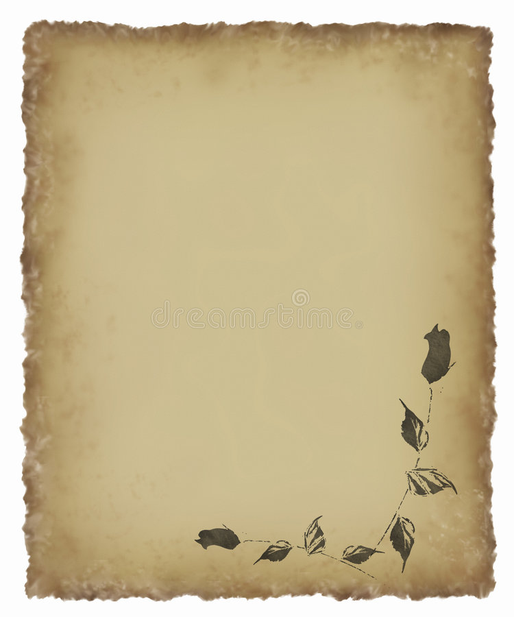 czarny stary pergamin rose ilustracji