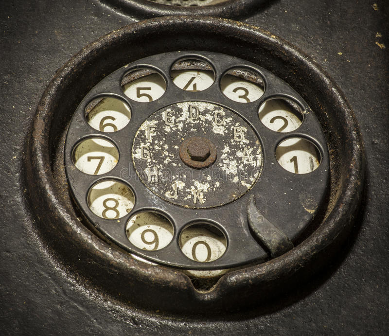 czarny stary telefon obraz stock