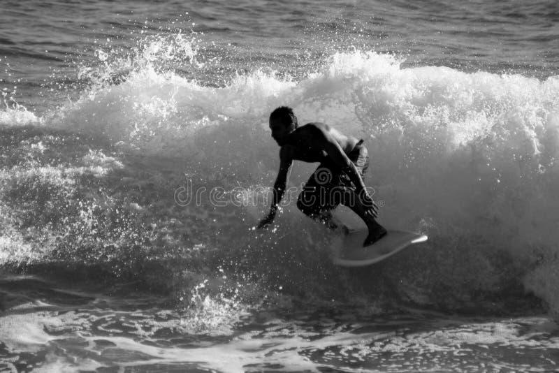 czarny surfer white2 obrazy stock