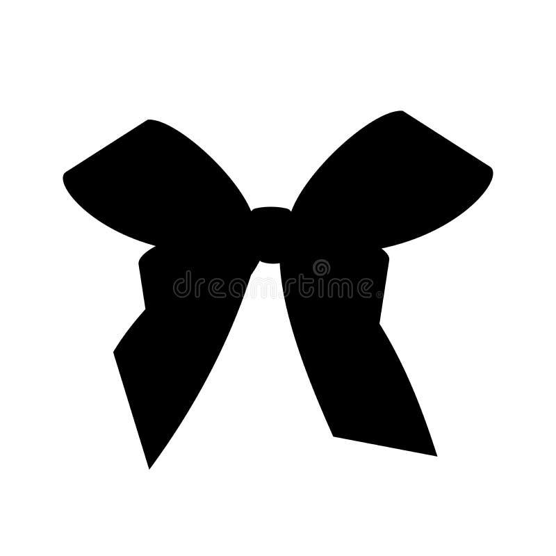 Czarny sylwetka prezenta łęk Pojęcie dla zaproszenia, sztandarów, prezent kart, gratulacje lub strona internetowa układu vect, ilustracji