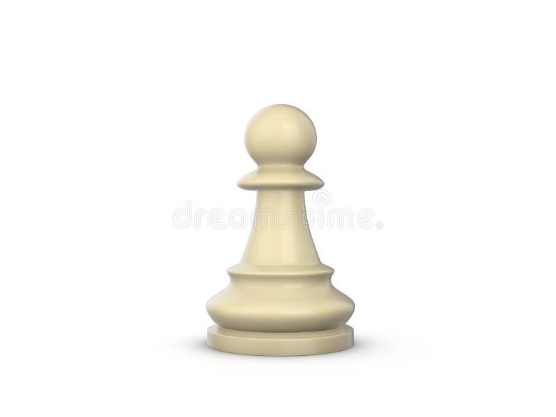 czarny szachowy kolor odizolowywający zastawniczy biel ilustracji