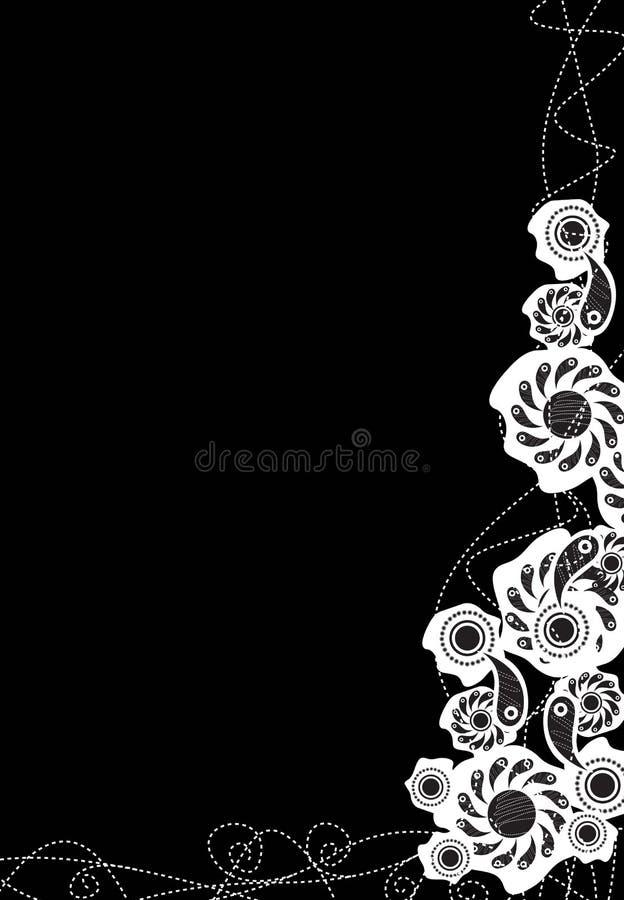 czarny tła dekoracyjny ilustracji