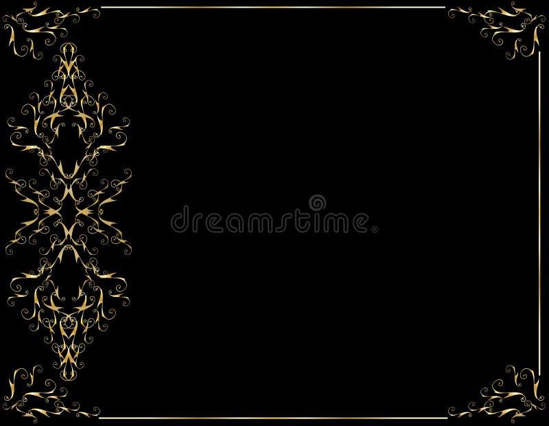 czarny tła elegancki złoto ilustracji