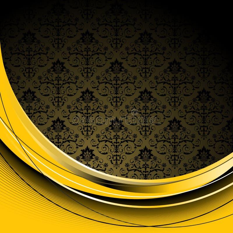 czarny tła kolor żółty ilustracja wektor