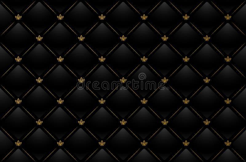 czarny tła skórzany ilustracyjny wektora ilustracji