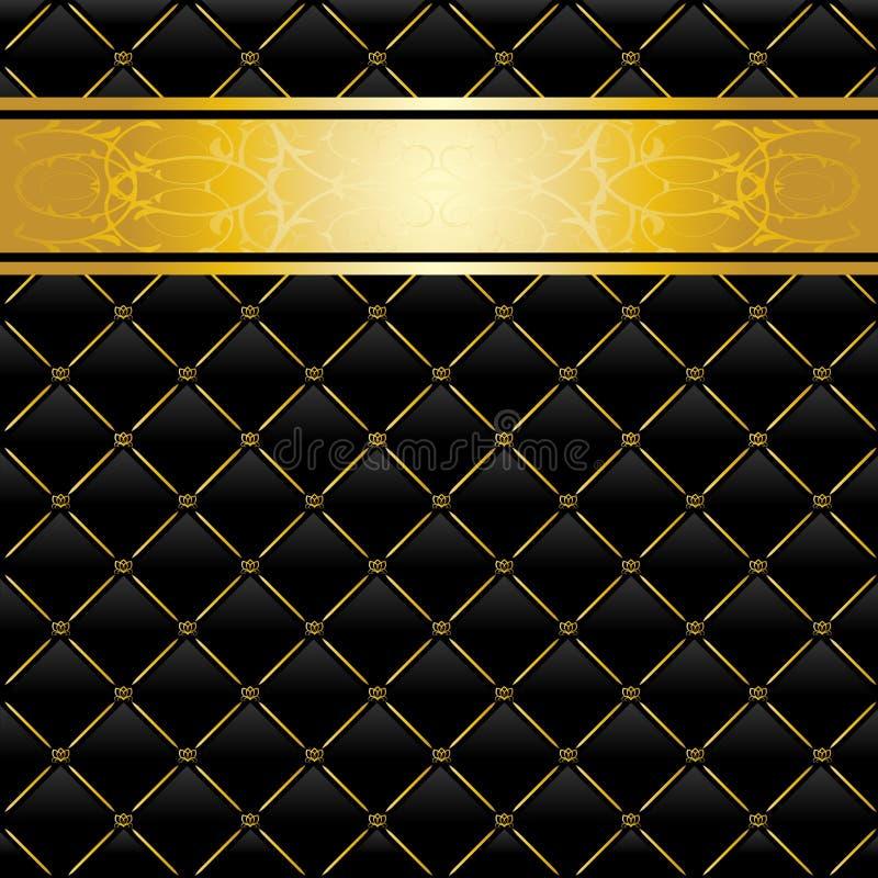 czarny tła złoto ilustracji