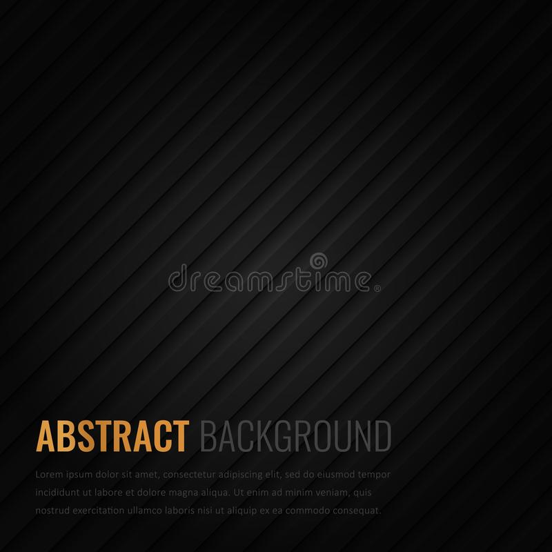 Czarny tło Abstrakcjonistyczny geometryczny szablon dla biznesu Tło tekstura z kwadratem i trójbokiem wektor obraz stock