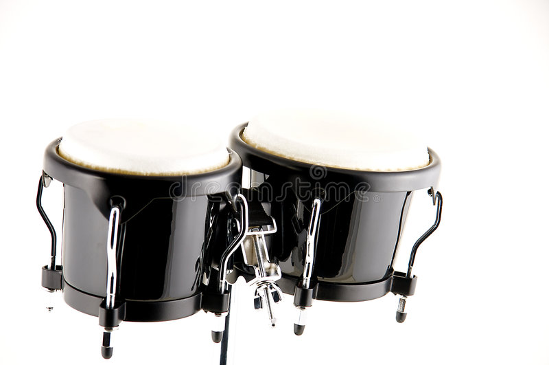 czarny tło bongo odizolowywali biel zdjęcie royalty free