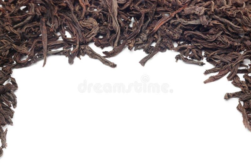 czarny tło herbata zdjęcie stock