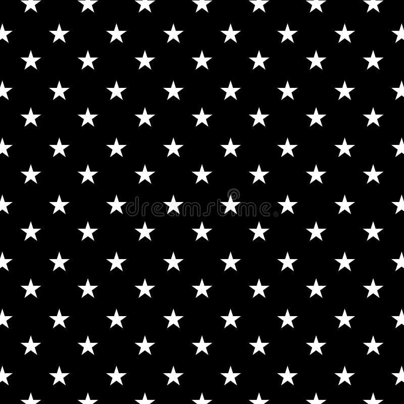 Czarny tło w biały geometryczny bezszwowym pattren ilustracja wektor