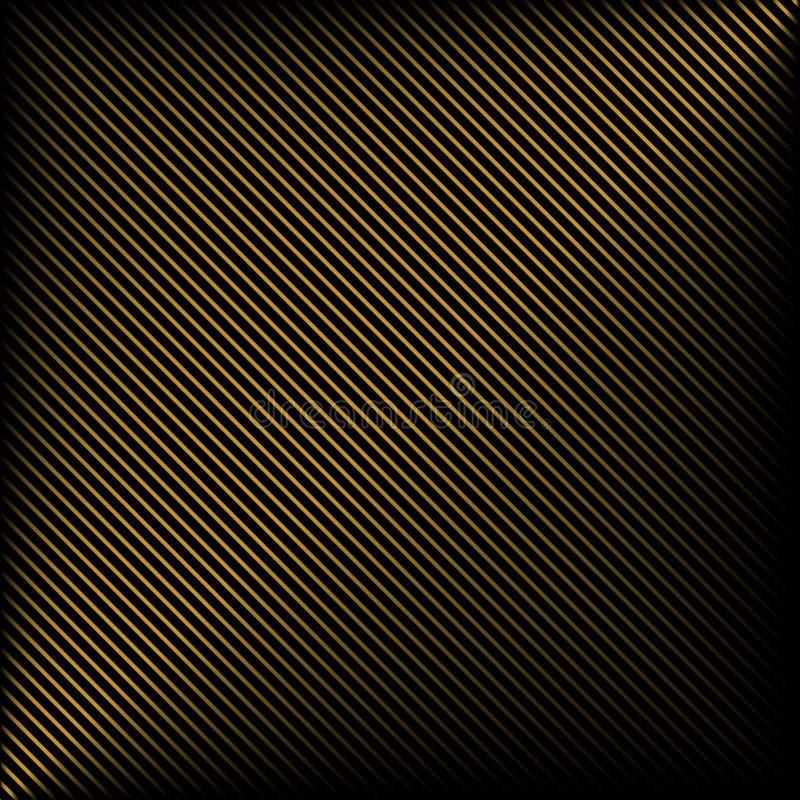 Czarny tło w złocistych lampasach ilustracja wektor