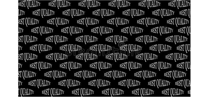 Czarny tło z białą wpisową najlepszy ilością - wektorowa ilustracja royalty ilustracja