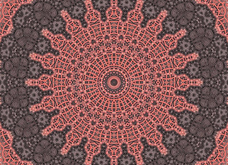 Czarny tło z białymi grafika i różowym koncentrycznym wzorem royalty ilustracja
