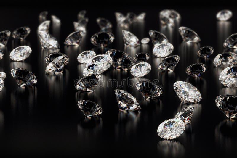 czarny t?o diamenty ilustracja wektor