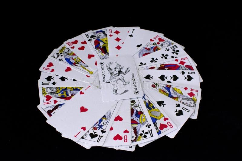 czarny t?o karty gra? obrazy stock