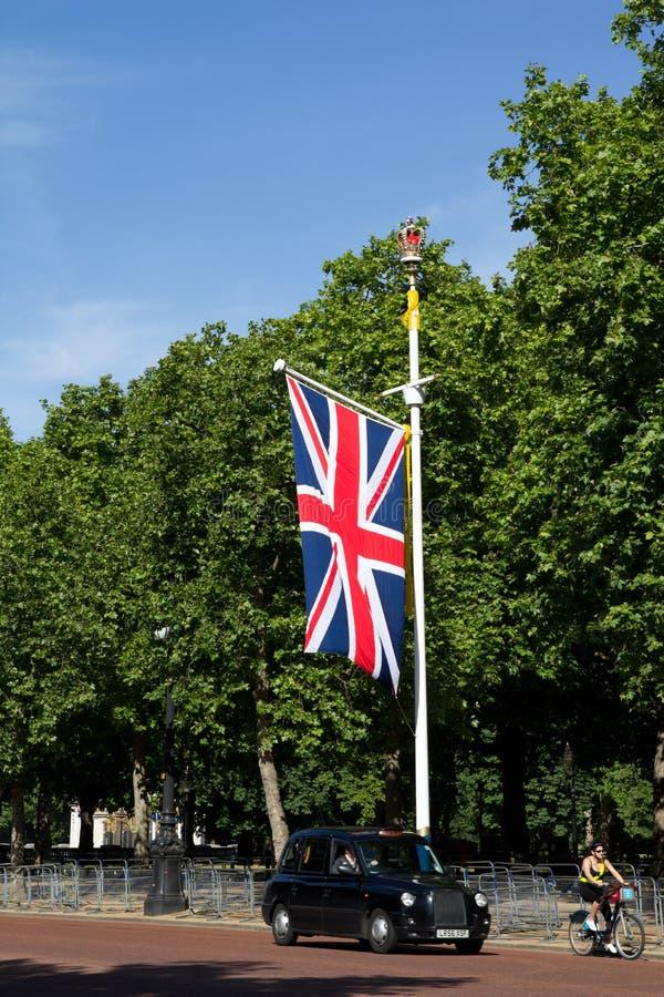 czarny taksówka London zdjęcie stock