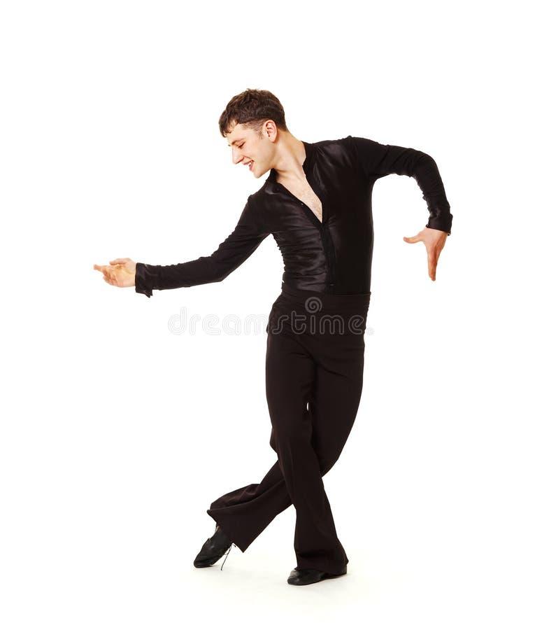 czarny tancerza eleganci kostium zdjęcia stock