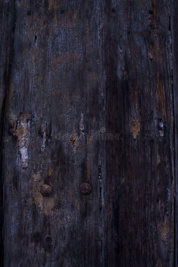 Czarny tekstury drewno Stary zdjęcia stock