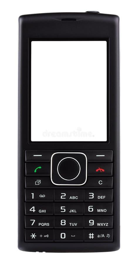 Czarny telefon komórkowy z guzikami zdjęcie stock