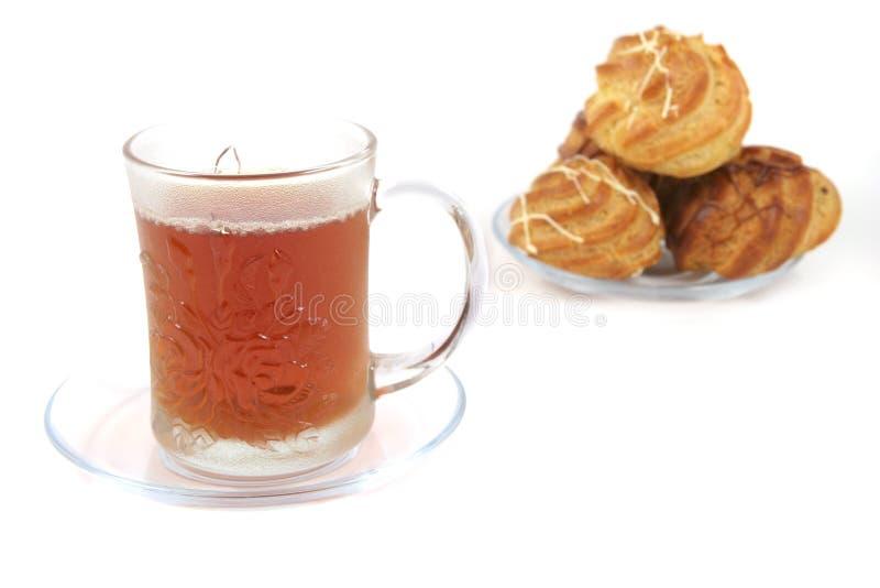 czarny tortów lekka herbata zdjęcia stock