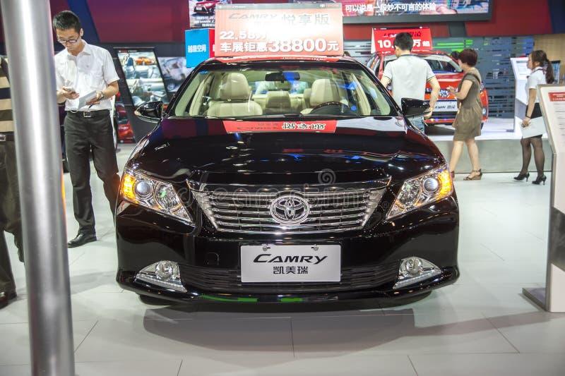 Czarny Toyota camry samochód obrazy royalty free