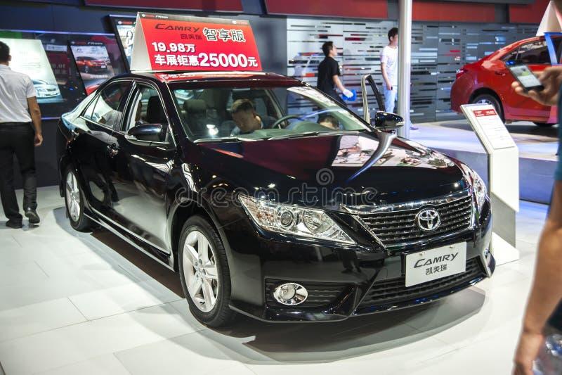 Czarny Toyota camry samochód zdjęcia royalty free