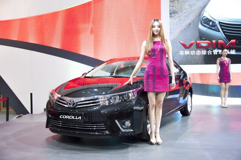 Czarny Toyota koronowy samochód obrazy royalty free