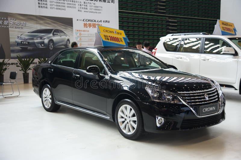 Czarny Toyota korony samochód obraz royalty free
