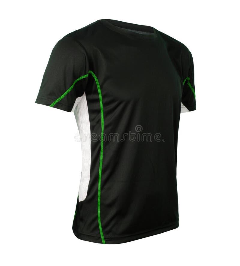 Czarny tshirt szablon zdjęcie royalty free