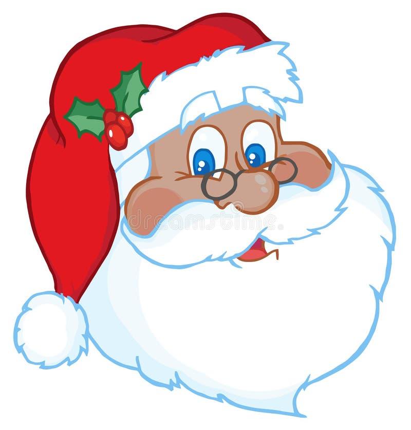 czarny twarz Santa ilustracja wektor