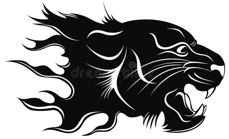czarny tygrys ilustracja wektor
