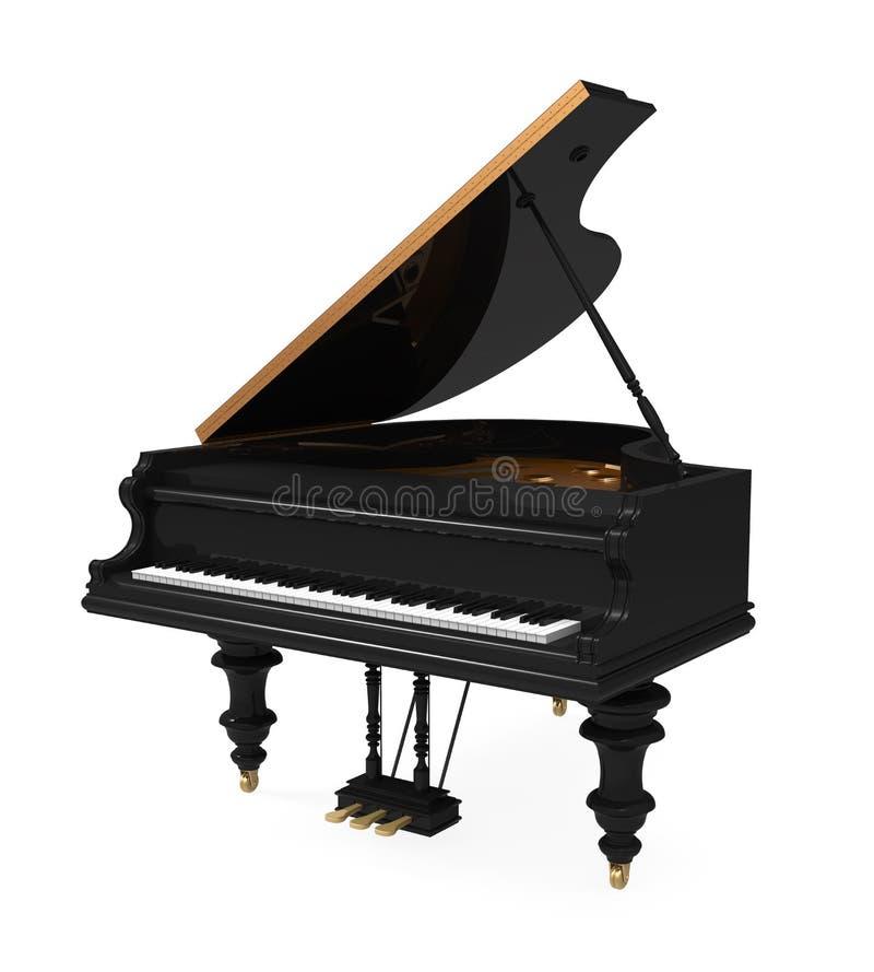 Czarny Uroczysty pianino Odizolowywający ilustracja wektor