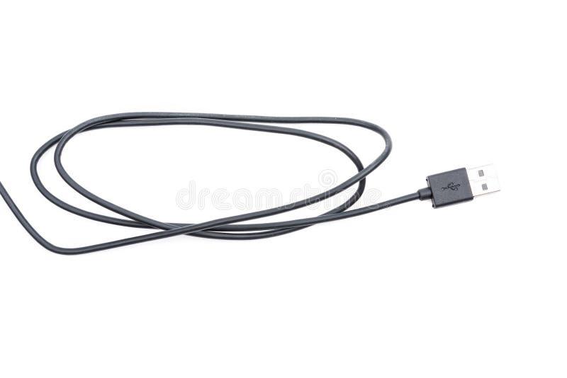 Czarny USB kablowy włącznik fotografia royalty free