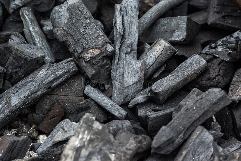 Czarny węgiel drzewny tekstury tło Naturalny drewniany węgiel drzewny, tradycyjny węgiel drzewny lub ciężki drewniany węgiel drze zdjęcie stock