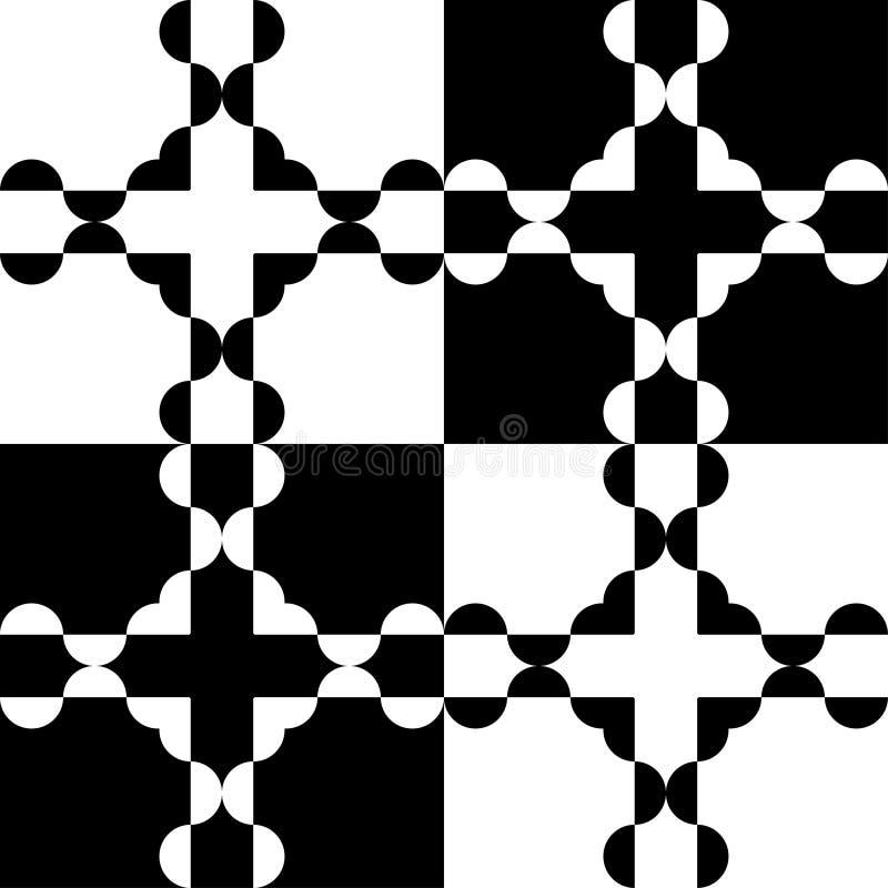 Download Czarny white wzoru ilustracji. Ilustracja złożonej z arte - 65226348