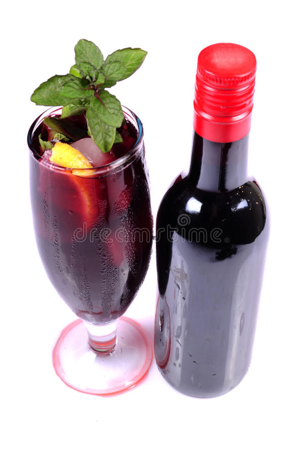 czarny wino obraz royalty free