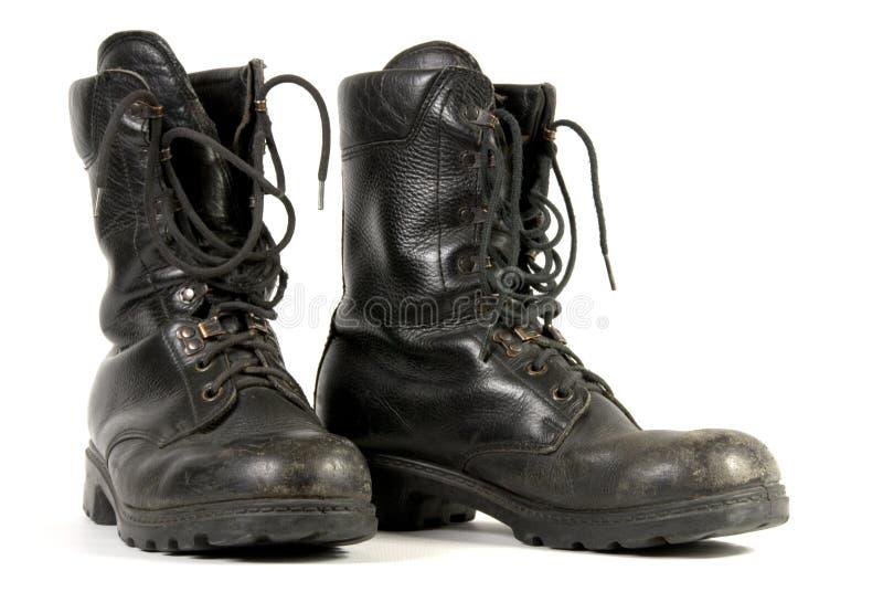 czarny wojsko buty obrazy stock