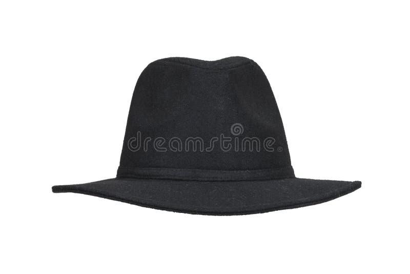 Czarny woolen kapelusz obraz stock