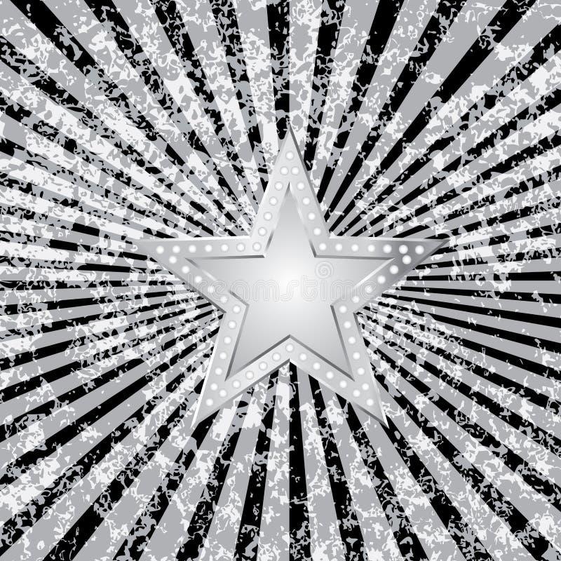czarny wybuchu srebra gwiazda royalty ilustracja