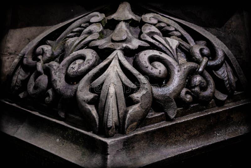 czarny wygina się kamienia kąt szpaltowa baza obrazy royalty free