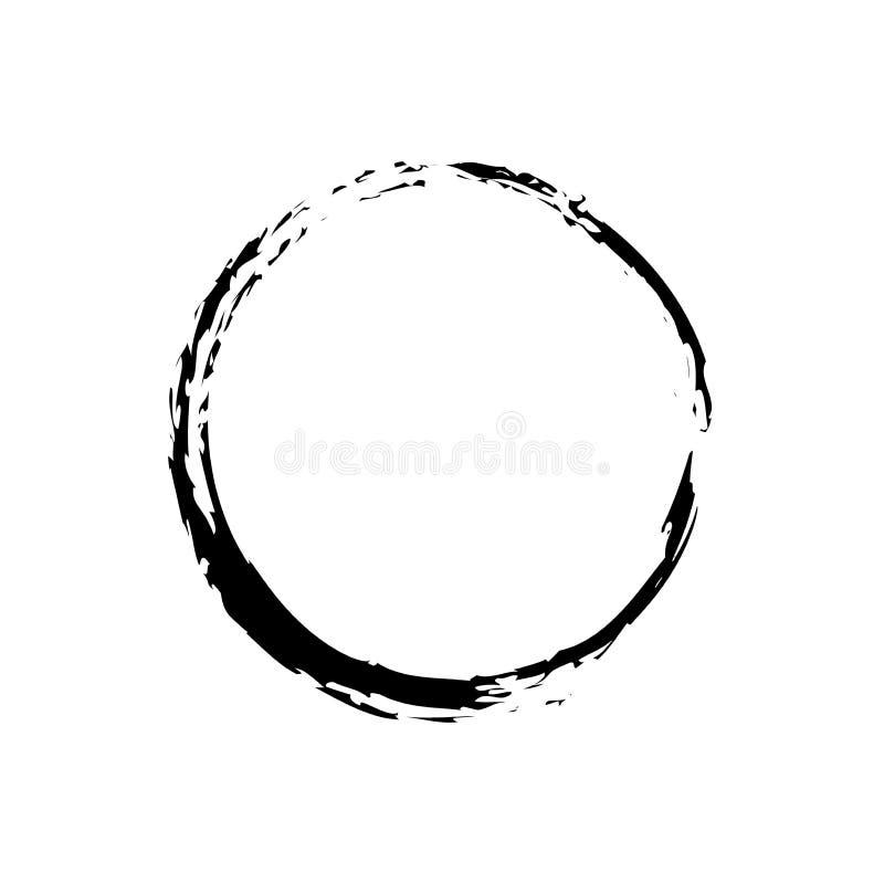 Czarny Zen symbol ilustracji