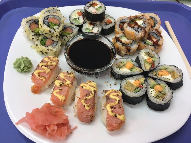 czarny zestaw strza?y sushi obraz royalty free