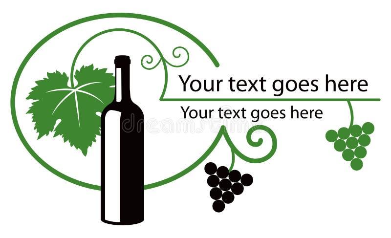 czarny zielony ilustracyjny wino ilustracja wektor