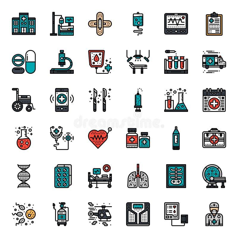 czarny zmiany ikony wątrobowy medyczny ochrony po prostu biel royalty ilustracja