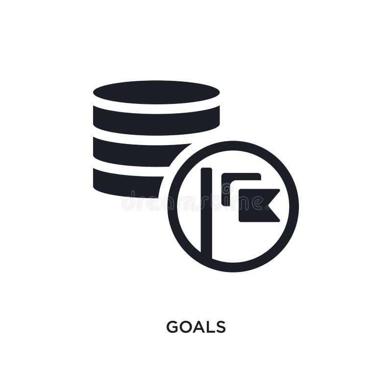 czarnych celów odosobniona wektorowa ikona prosta element ilustracja od dużych dane pojęcia wektoru ikon celu logo editable czarn ilustracja wektor