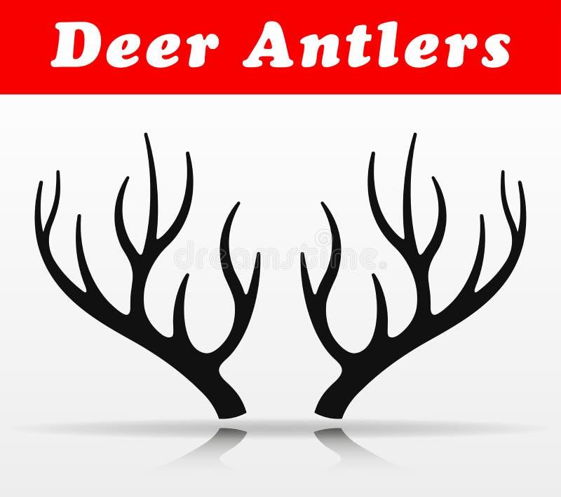 Czarnych jelenich poroże wektorowy projekt royalty ilustracja